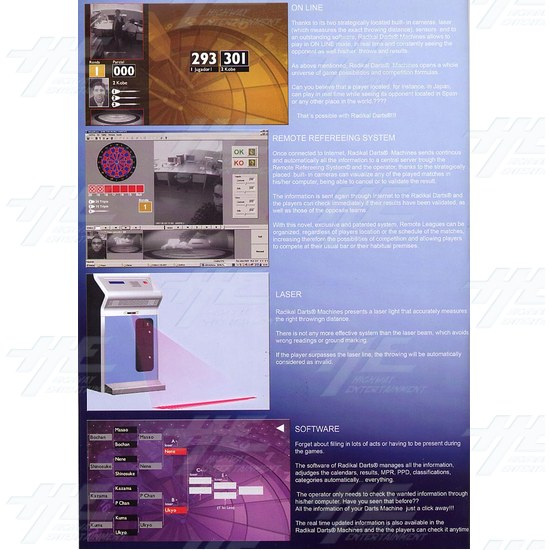 Radikal Darts Electronic Dart Machine - Brochure Inside 01