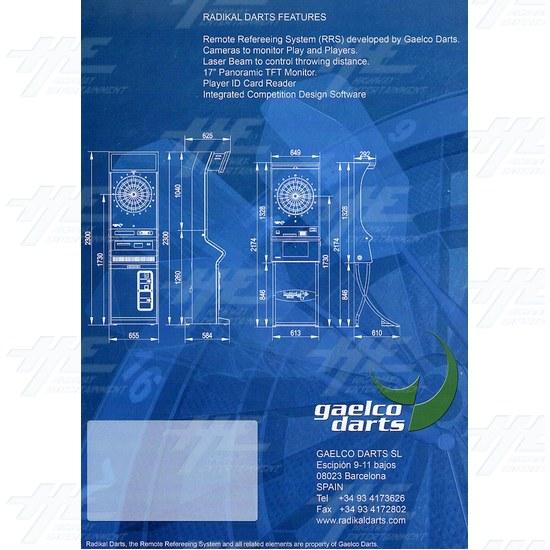 Radikal Darts Electronic Dart Machine - Brochure Back