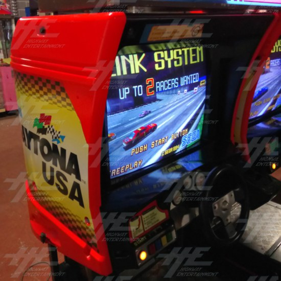 Daytona USA Twin Driving Arcade Machine (Japan Model) - left side