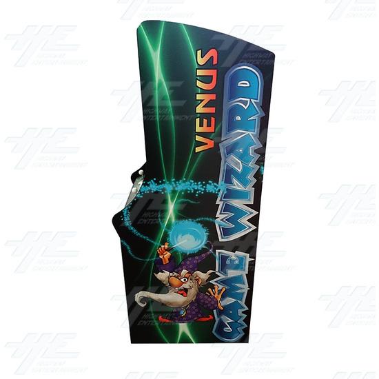 Game Wizard Venus Arcade Machine (Missing Grill) - Left View
