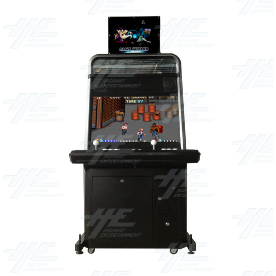Game Wizard Xtreme Grey Version Arcade Machine - Front View