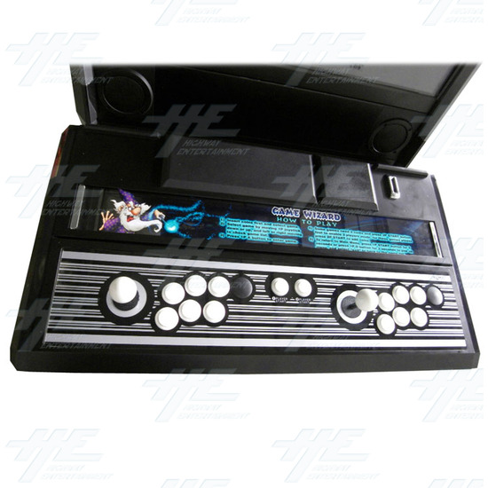 Game Wizard Xtreme Grey Version Arcade Machine - Control Panel
