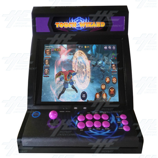 Touch Wizard Desktop (Joystick Model - Purple Version) - Front View