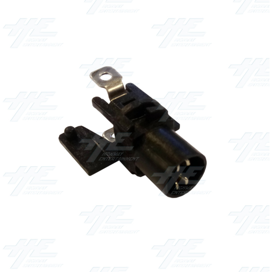 Player 1 (P1) Push Button for Arcade Machines - Clear Illuminated - Led Switch Bracket