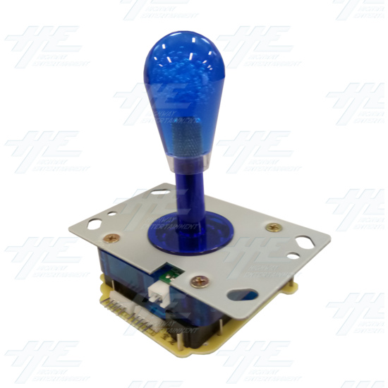 Blue Illuminated Joystick for Arcade Machine - Angle View