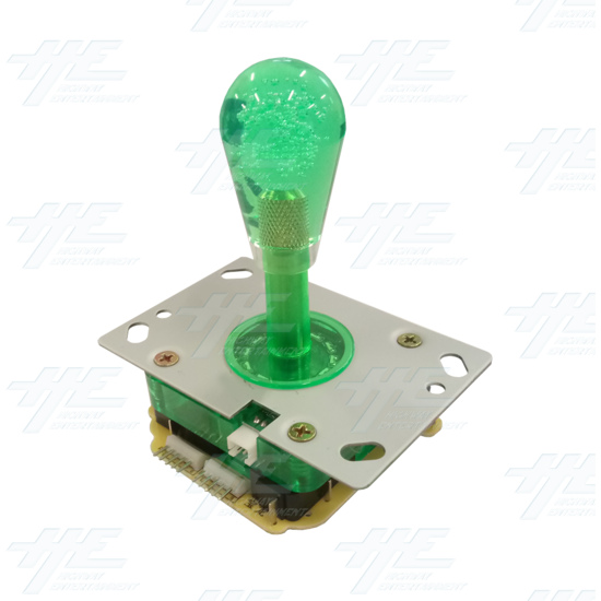 Green Illuminated Joystick for Arcade Machine - Angle View