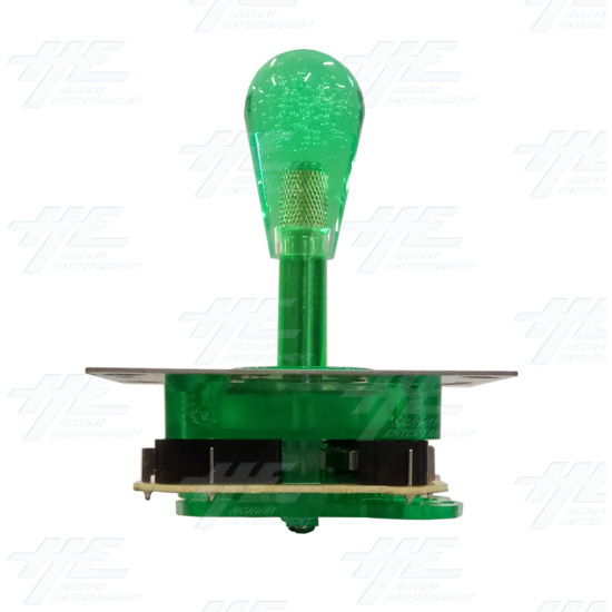 Green Illuminated Joystick for Arcade Machine - Back View