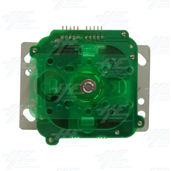 Green Illuminated Joystick for Arcade Machine - Bottom View