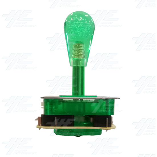 Green Illuminated Joystick for Arcade Machine - Left View