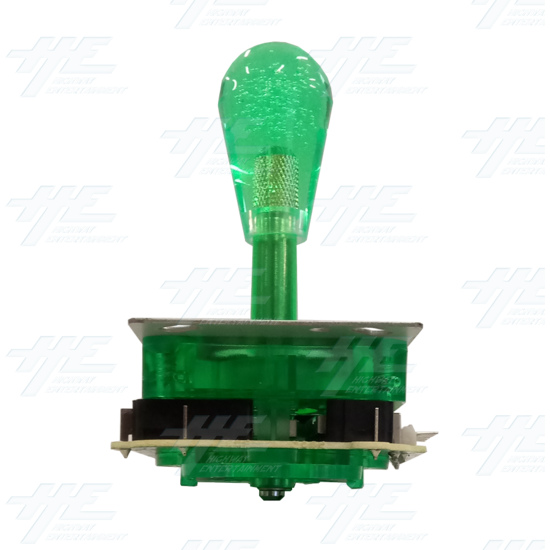 Green Illuminated Joystick for Arcade Machine - Right View