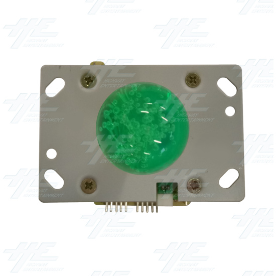Green Illuminated Joystick for Arcade Machine - Top View