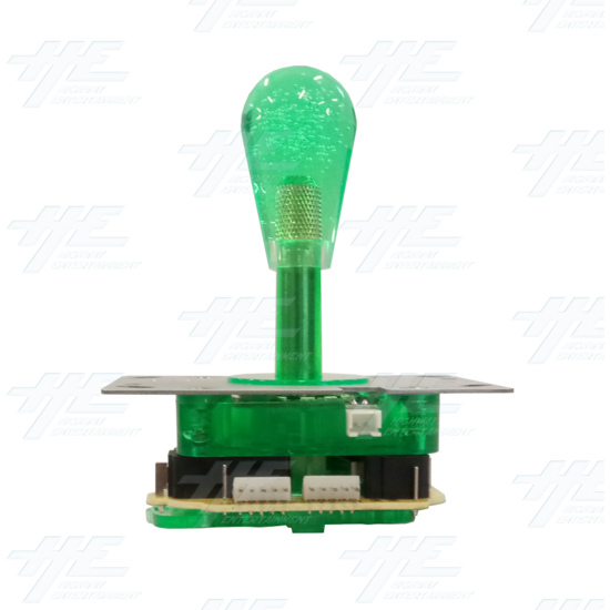 Green Illuminated Joystick for Arcade Machine - Front View