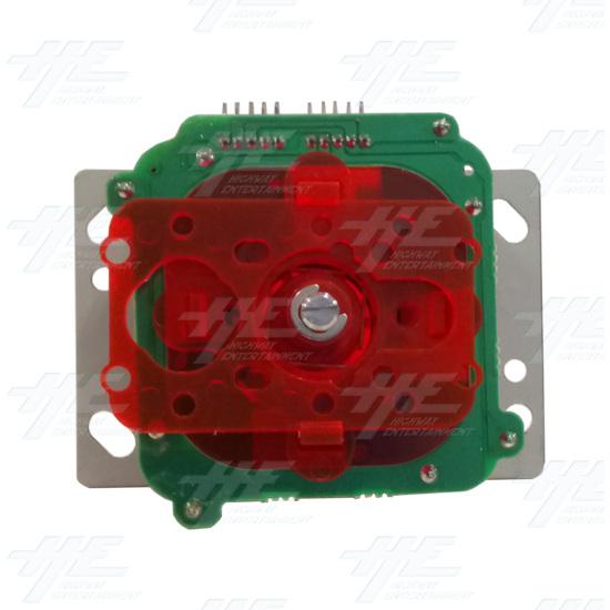 Red Illuminated Joystick for Arcade Machine - Bottom View