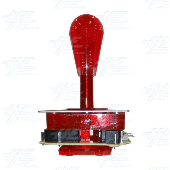 Red Illuminated Joystick for Arcade Machine - right view