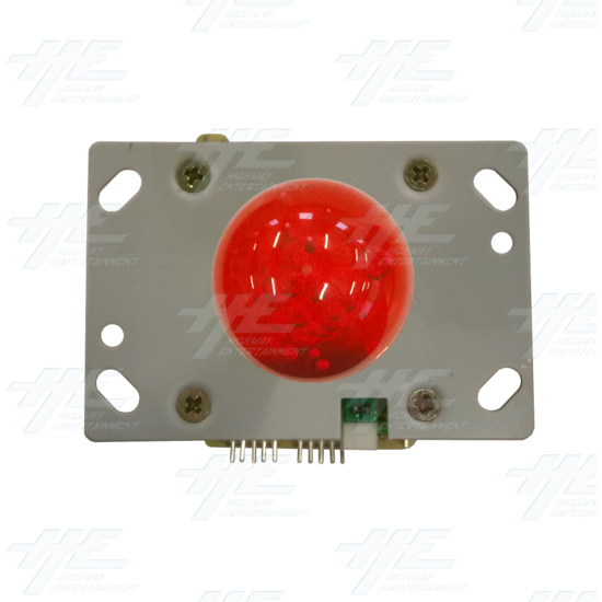 Red Illuminated Joystick for Arcade Machine - Top View