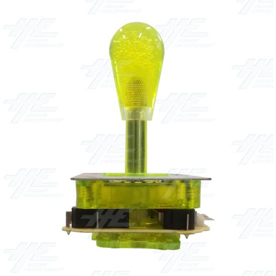 Yellow Illuminated Joystick for Arcade Machine - Back View