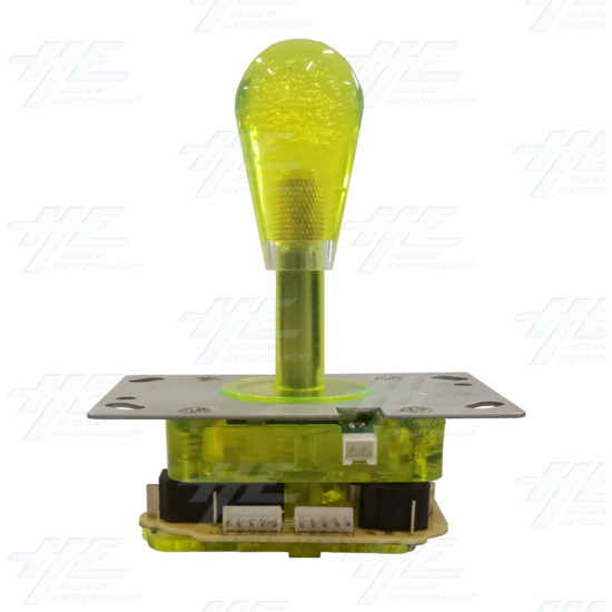 Yellow Illuminated Joystick for Arcade Machine - Left View