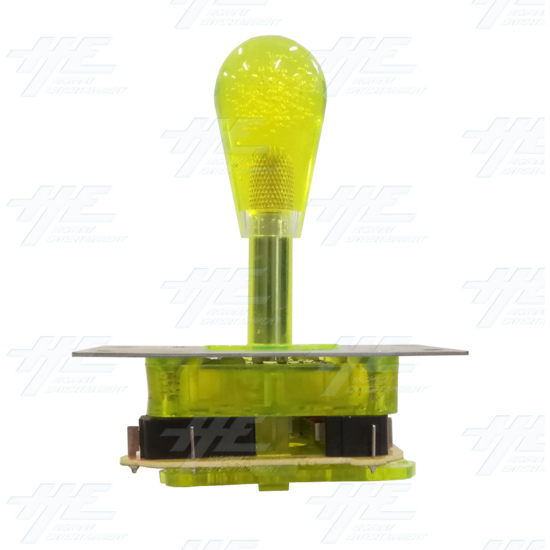 Yellow Illuminated Joystick for Arcade Machine - Right View