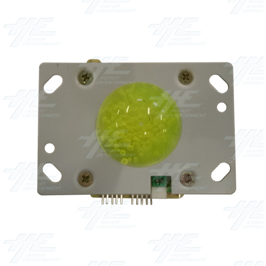 Yellow Illuminated Joystick for Arcade Machine - Top View