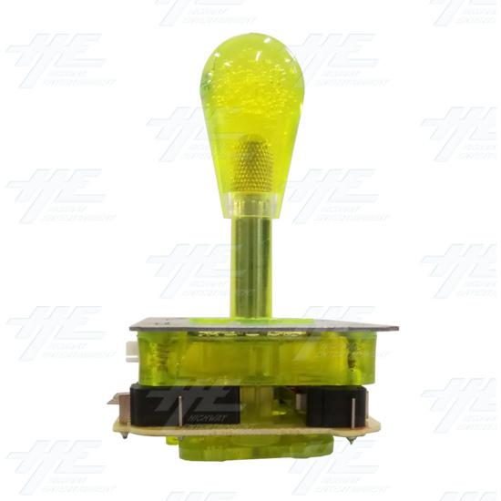 Yellow Illuminated Joystick for Arcade Machine - Front View