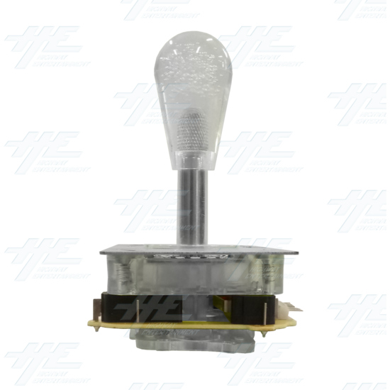 White Illuminated Clear Joystick for Arcade Machine - Back View