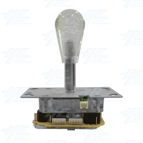 White Illuminated Clear Joystick for Arcade Machine - Left View
