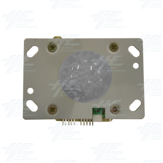 White Illuminated Clear Joystick for Arcade Machine - Top View
