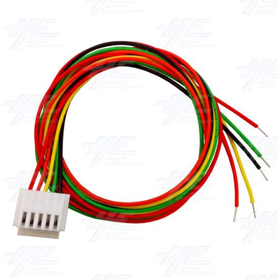 White Illuminated Clear Joystick for Arcade Machine - 5 Pin Cable