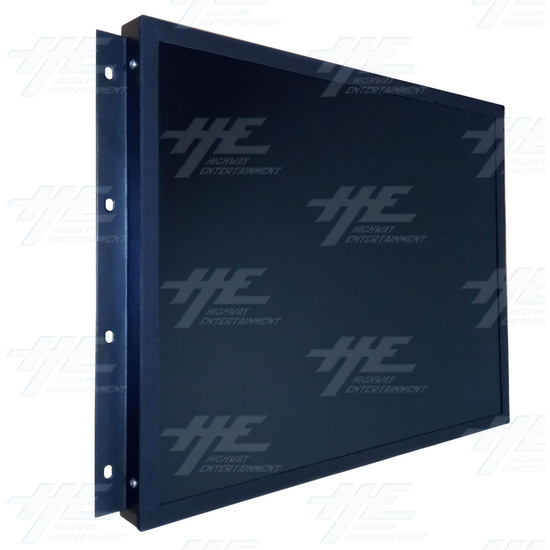 20 inch LCD Monitor suitable for Lowboy Cabinet or Cocktail Table - Angle View