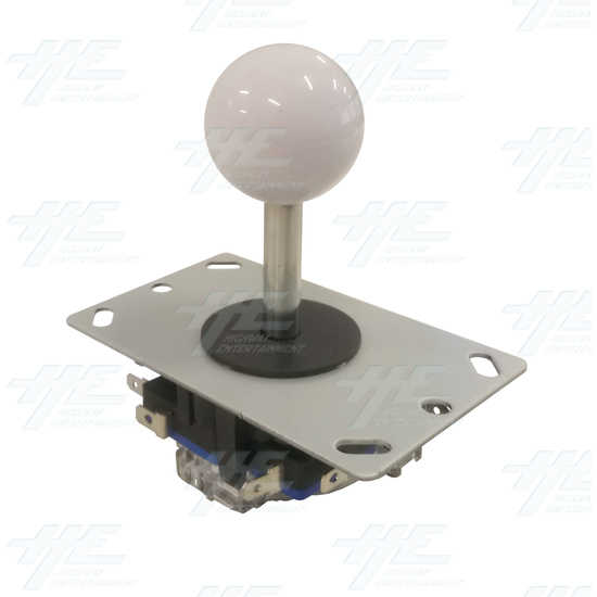 White Ball Top Joystick for Arcade Machine - White Joystick