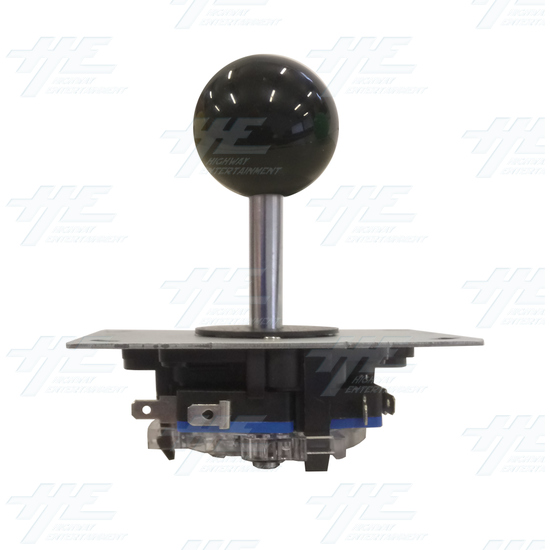 Black Ball Top Joystick for Arcade Machine - Black Joystick Front View
