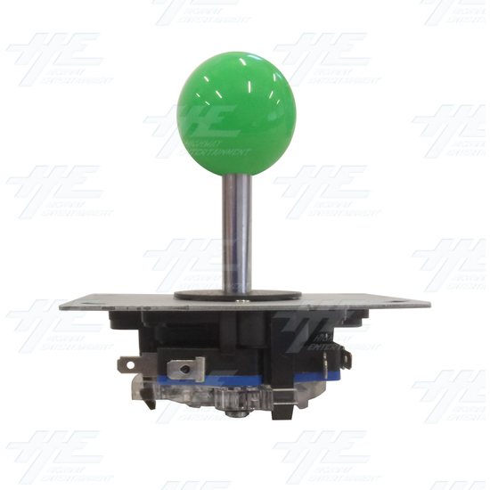 Green Ball Top Joystick for Arcade Machine - Green Joystick Front View