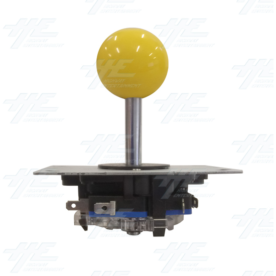 Yellow Ball Top Joystick for Arcade Machine - Yellow Joystick Front View