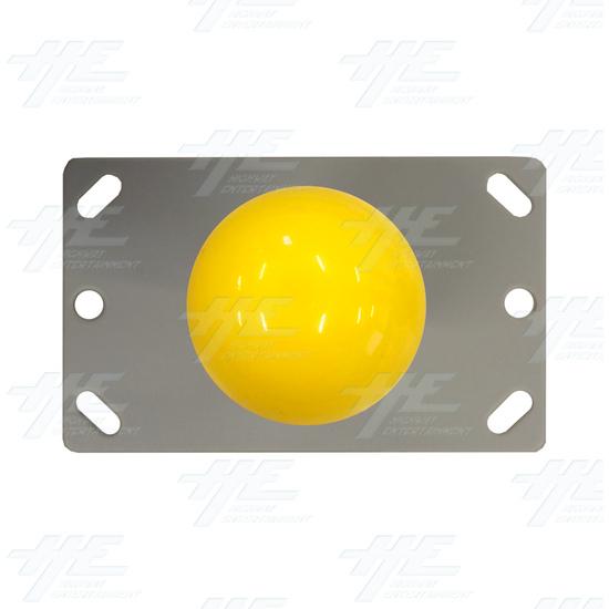 Yellow Ball Top Joystick for Arcade Machine - Yellow Joystick Top View