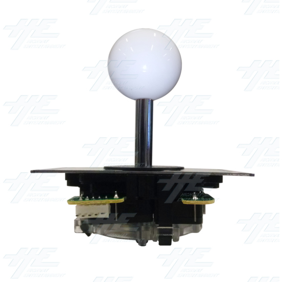 DIY White Arcade Joystick and Buttons Kit for Arcade Machines - White Joystick Front View
