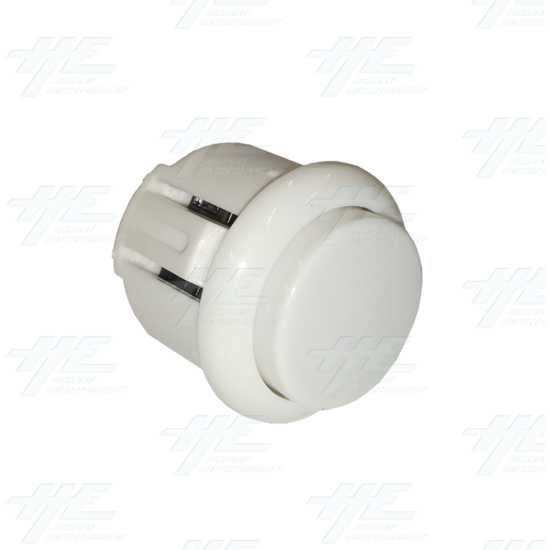DIY White Arcade Joystick and Buttons Kit for Arcade Machines - 24mm White Button Angle View