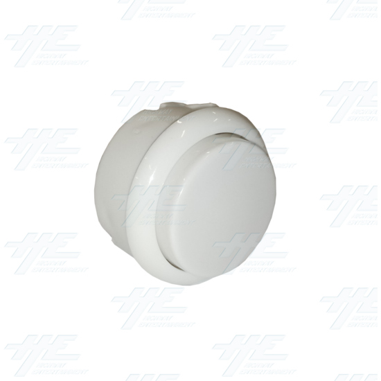 DIY White Arcade Joystick and Buttons Kit for Arcade Machines - 30mm White Button Angle View