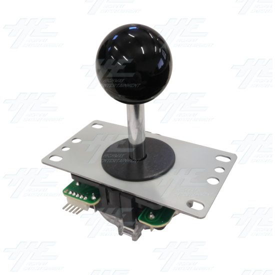 DIY Black Arcade Joystick and Buttons Kit for Arcade Machines - Black Joystick Angle View