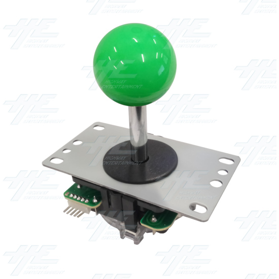DIY Green Arcade Joystick and Buttons Kit for Arcade Machines - Green Joystick Angle View