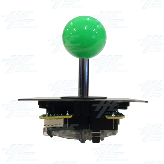 DIY Green Arcade Joystick and Buttons Kit for Arcade Machines - Green Joystick Front View