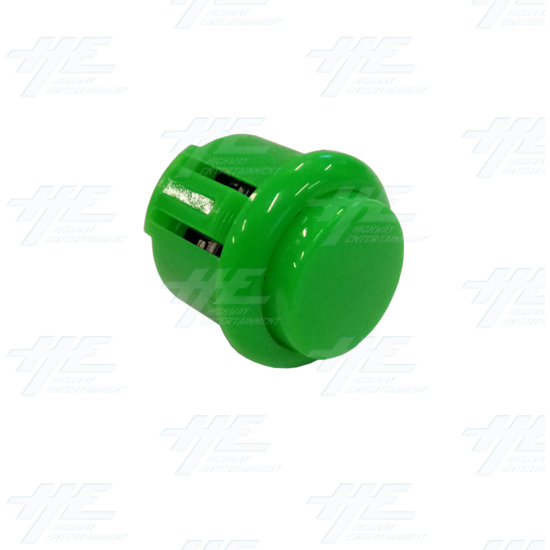 DIY Green Arcade Joystick and Buttons Kit for Arcade Machines - 24mm Green Button Angle View