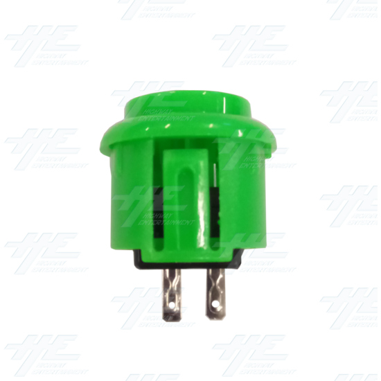 DIY Green Arcade Joystick and Buttons Kit for Arcade Machines - 24mm Green Button Side View