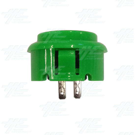 DIY Green Arcade Joystick and Buttons Kit for Arcade Machines - 30mm Green Button Side View
