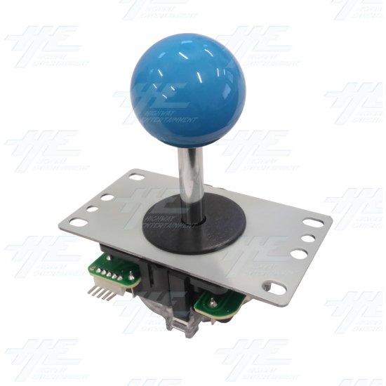 DIY Blue Arcade Joystick and Buttons Kit for Arcade Machines - Blue Joystick Angle View