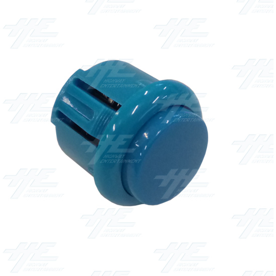 DIY Blue Arcade Joystick and Buttons Kit for Arcade Machines - 24mm Blue Button Angle View