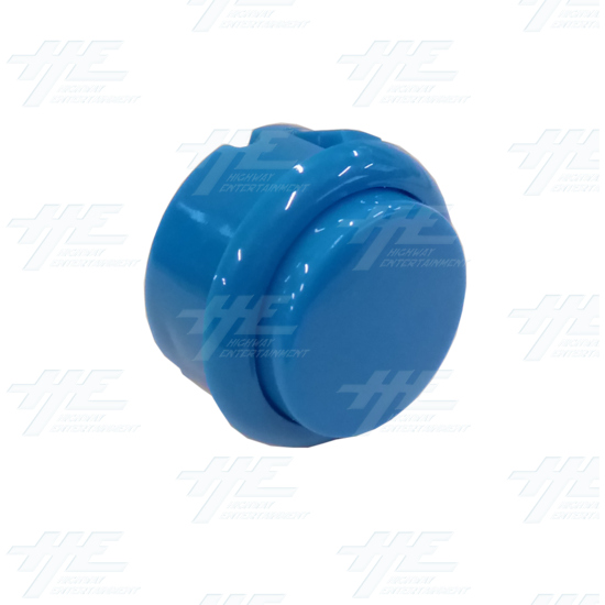 DIY Blue Arcade Joystick and Buttons Kit for Arcade Machines - 30mm Blue Button Angle View