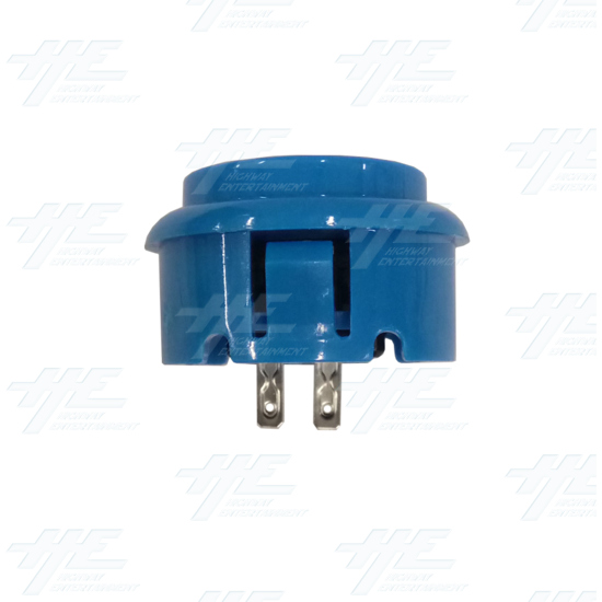 DIY Blue Arcade Joystick and Buttons Kit for Arcade Machines - 30mm Blue Button Side View