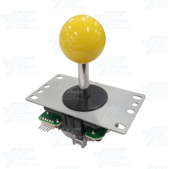 DIY Yellow Arcade Joystick and Buttons Kit for Arcade Machines - Yellow Joystick Angle View