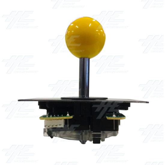 DIY Yellow Arcade Joystick and Buttons Kit for Arcade Machines - Yellow Joystick Front View