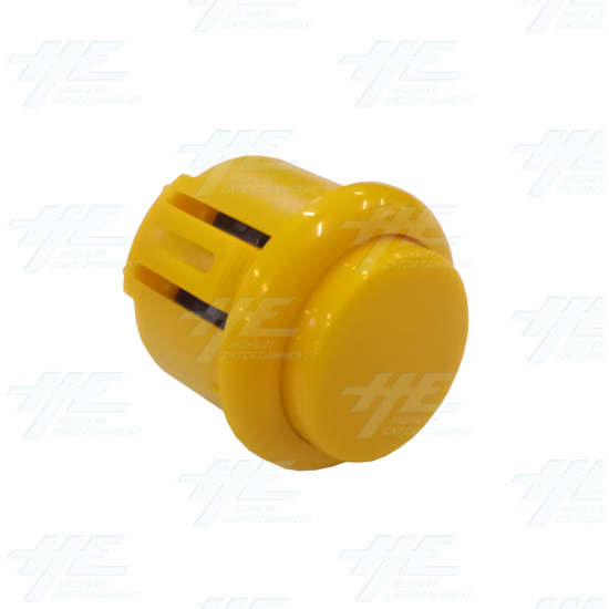 DIY Yellow Arcade Joystick and Buttons Kit for Arcade Machines - 24mm Yellow Button Angle View